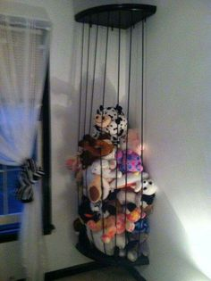 If your child's room is in need of a bit of a makeover, we have rounded up 15 Funky Kids Room Ideas you'll want to steal, guaranteed to make their room the most fun room in the house! The pin is girls bedroom. Please enjoy ! Organizing Stuffed Animals, Stuffed Animal Storage, Zoo For Stuffed Animals, Creative Toy Storage, Kids Storage, Storage Ideas, Corner Storage, Ball Storage, Corner Shelves