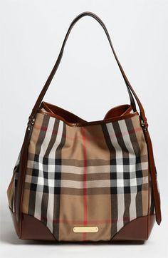 Dying. Just dying. Give me! | Burberry 'House Check - Medium' Over Shoulder Tote available at #Nordstrom