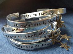 Starfish Story Cuff Bracelet it matters to that one by WarmTags