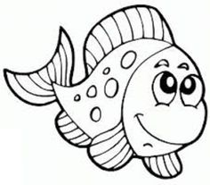 Exceptional Fish Coloring Pages For Kids   Preschool Crafts
