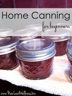 Home canning for beginners... This is a great tutorial with step by step pictures.