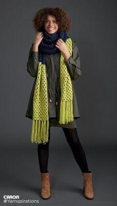 Granny Takes A Dip Crochet Super Scarf - Patterns | Yarnspirations