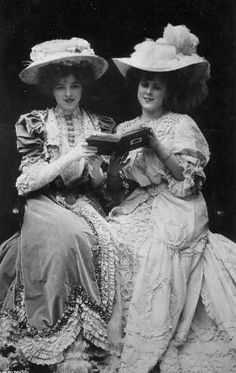 """Gertrude Glynn, understudy of Lily Elsie, and Miss Gaynor Rowlands, """"The  Gaiety Girl"""" (1900s) reading"""