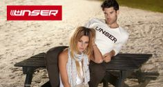 Johana Bahamon and Matt Aymar for Unser (SS 2012) #MattAymar #Canadian #malemodel #model #JohanaBahamon #MegaModelMgmt #sand