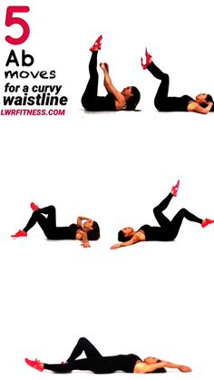 Ab Workout - Here are 5 great moves that work your abs and waist and give you great curves as your are focusing on using all your ab muscles. Ab & Waist Workout for Women at Home - Fitness Tipps Fitness Workouts, Fitness Motivation, Fitness Hacks, Fitness Humor, Total Gym Workouts, Squats Fitness, Fitness Logo, Waist Workout, Belly Fat Workout