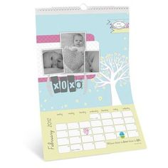 Personal Baby Shower Gift -  8x12 Calendar Page Scrapbook Project Idea - Detailed Instructions: http://projectcenter.creativememories.com/digital/2012/02/valentine-8x12-calendar-page-scrapbook-project-idea.html