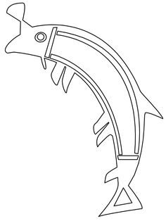 Coloring Pages Aboriginal Trout Animals Fishes