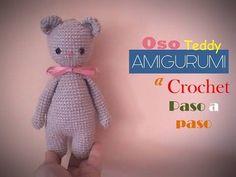 OSO teddy AMIGURUMI a crochet ( diestro) - YouTube