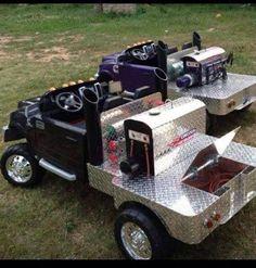 Welder trucks for kids. I have to get my kids one of these one day Custom Power Wheels, Kids Power Wheels, Power Wheels Truck, Welding Beds, Welding Cart, Metal Welding, Welding Trucks, Diy Go Kart, Western Babies