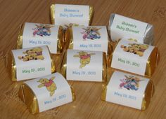 pooh baby shower centerpice | Personalized Candy Bar Wrappers ♥ Baby Shower Announcements ♥