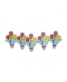 Bouquet Of Colorful Flowers Emoji Easter Tulips Enamel Lapel Pin