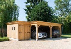 U wenst een carport met fietsenstalling te plaatsen ? Contacteer Wood Arts uit Avelgem (West-Vlaanderen). Gratis offerte.