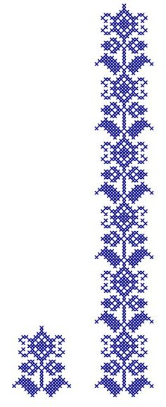 MP554 Cross Stitch Bookmarks, Cross Stitch Borders, Cross Stitch Flowers, Cross Stitching, Cross Stitch Embroidery, Hand Embroidery, Cross Stitch Patterns, Swedish Embroidery, Motifs Perler