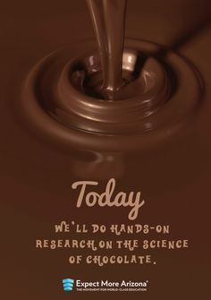 The Arizona SciTech Festival, an annual state-wide celebration of science, technology, engineering and math, kicks off this weekend. Click the image to find #STEM events held all over the state, including the Science of Chocolate.  #TodayInAZ