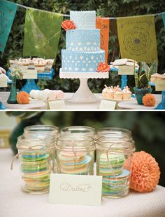 Cinco de mayo dessert table.  Once upon time I wanted to be a party planner.  Now, I just want to have a lot of parties.
