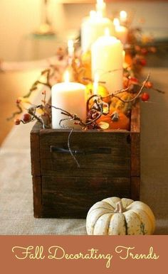 Fall decor trends. Don't throw the pumpkins away after Halloween.
