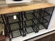 Office storage option - cart with 3 wire drawers and wood top