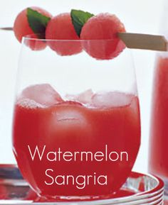 The Partybluprints Blog: Watermelon Sangria - Friday's Featured Cocktail