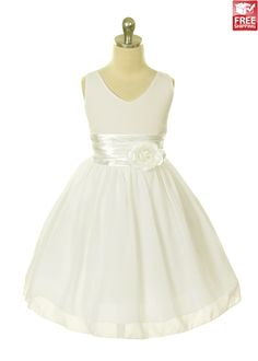 Ivory Chiffon Flower Girl Dress @Brittney Anderson Anderson tarnoff