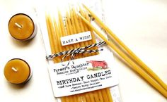 Tall Beeswax Birthday Candles