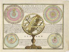 Armillarsphären-Globus / Himmelskörper. - 120Alte Graphik, dekorative Grafik und Ortsans. - Auktionshaus Zeller - Int. Bodensee-Kunstauktionen