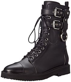 Giuseppe Zanotti Women's I57058 Combat Boot, Birel Nero, 10 M US >>> You can get additional details at the image link.