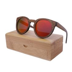 2016 Trends Bamboo Wooden Sunglasses With Polarized Lens