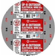 Cerro Wire 147-1862-G 250-Foot 2-Conductor 10-AWG NMB Romex Wire by ...