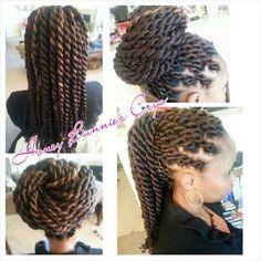 Silky Kanekalon Havana Twists Protective Style www.styleseat.com/hairaddictionz