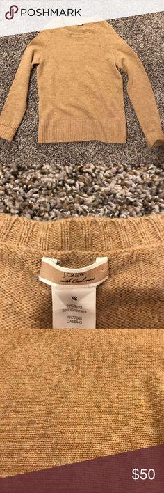 Carmel brown cashmere wool sweater Scoop neck cashmere sweater J. Crew Sweaters Crew & Scoop Necks