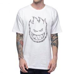 SPITFIRE Bighead Paisley tee-shirt white 35,00 € #skate #skateboard…