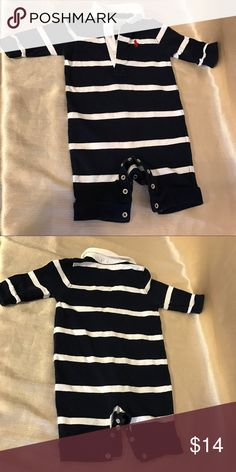 RALPH LAUREN BLUE AND WHITE STRIPED ONESIES 3MOS Used just twice cute onesies Ralph Lauren One Pieces Bodysuits