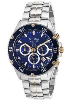Bulova Marine Star chrono acero azul