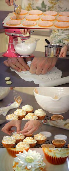 Cupcakes de naranja con almendras, receta 7 de Cupcake Maniacs