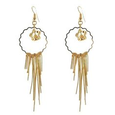 Gold Flower Fashion Chandelier Dangle Earring