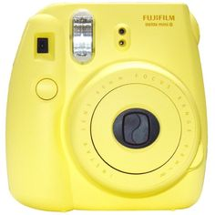 New Model Fuji Instax 8 Color Yellow Fujifilm Instax Mini 8 Instant... ($71) ❤ liked on Polyvore featuring fillers, camera, electronics, yellow fillers and polaroid