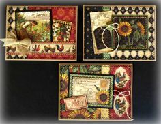 Graphic 45 French Country Handmade Greeting Cards