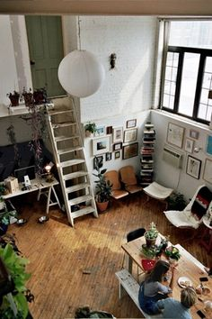 I wonder where this door goes... (Loft Living via Design is Mine)