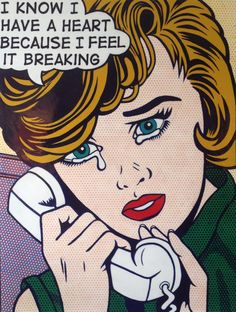 """Comic Girls Say.... """"I know I have a heart because I feel it  breaking """"   #comic #popart #MalcolmSmith"""