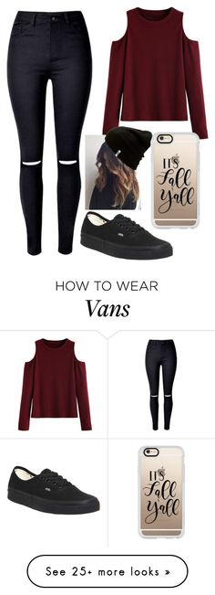 """""""100 day challenge- day 95"""" by baileejade on Polyvore featuring Vans and Casetify"""