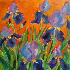 My Irises, painting by artist Elizabeth Fraser