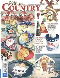 Archivo de álbumes Fabric Painting, Painting On Wood, Painting & Drawing, Tole Painting Patterns, Craft Patterns, Christmas Books, Christmas Crafts, Christmas Patterns, Cross Stitch Magazines