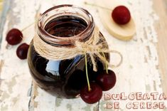 Dulceata de cirese Jam Recipes, Chutney, Cherry, Goodies, Gem, Desserts, Food, Drinks, Marmalade