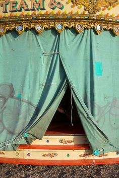 Green tent.
