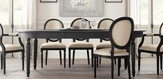 Restoration Hardware----love all the light and bright with dark wood