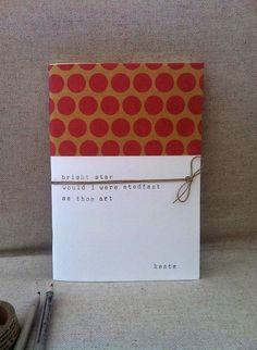 Bright Star handmade Notebook - Poetry - Keats