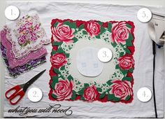 Vintage Hankie Do It Yourself Save the Date Invitations