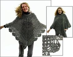 Ravelry: Martha Stewart 'Coming Home' Poncho: Plus Size (crochet) pattern by Lion Brand Yarn
