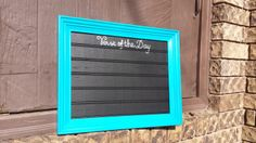 Verse of the Day FRAMED CHALKBOARD with verse by OverwhelmedByLove, $25.00