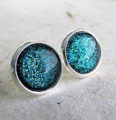 Turquoise Aqua Sparkle Earrings